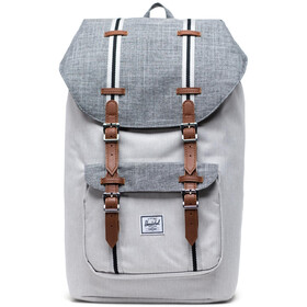 Herschel Little America Sac à dos, raven crosshatch/vapor crosshatch/tan